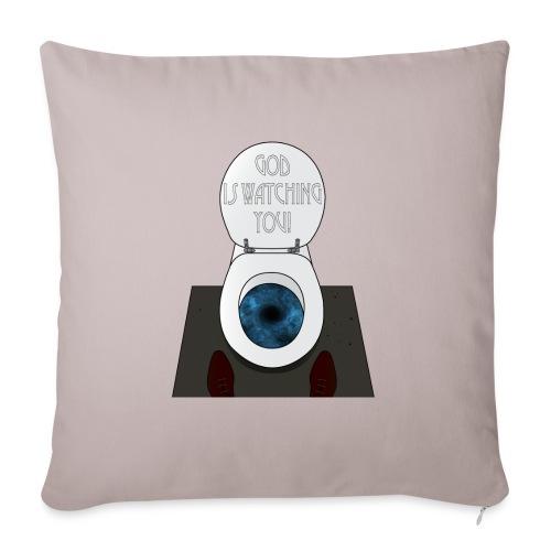 God is watching you! - Cuscino da divano 44 x 44 cm con riempimento