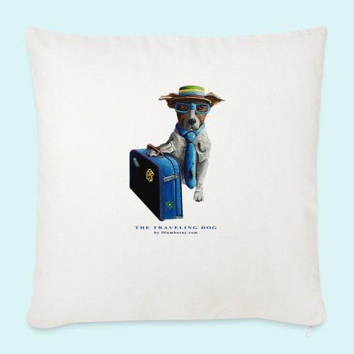 The Traveling Dog - Sofa pillow with filling 45cm x 45cm