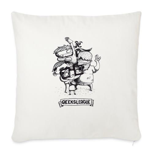 Illu Geeksleague - Coussin et housse de 45 x 45 cm