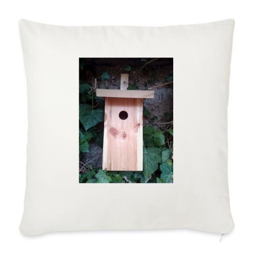 Der Nistkasten - Luxus für den Garten-Vogel - Sofakissen mit Füllung 44 x 44 cm
