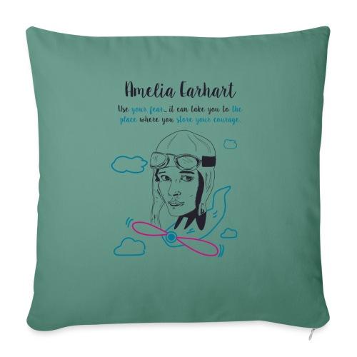 Amelia Earhart - Cuscino da divano 44 x 44 cm con riempimento