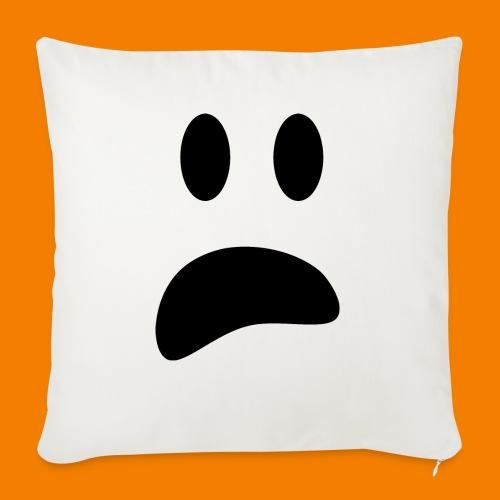 Skrämt spöke - Soffkudde med stoppning 44 x 44 cm