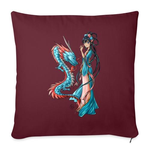 Blue Dragon - Coussin et housse de 45 x 45 cm