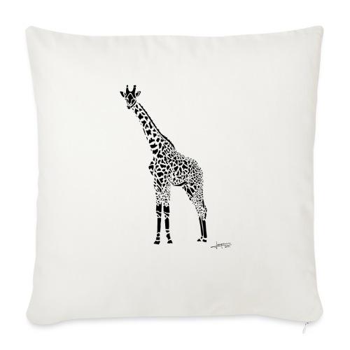 Black Girafe By Joaquín - Coussin et housse de 45 x 45 cm