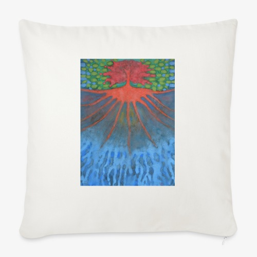 Drzewo Źycia - Poduszka na kanapę z wkładem 44 x 44 cm