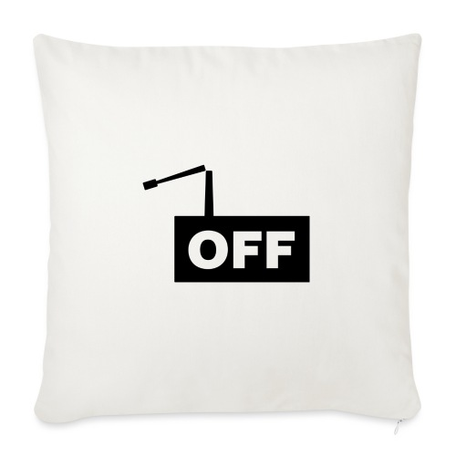 OFF Logomania Black Series - Sofa pillow with filling 45cm x 45cm