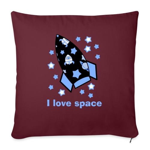 I love space - Cuscino da divano 44 x 44 cm con riempimento