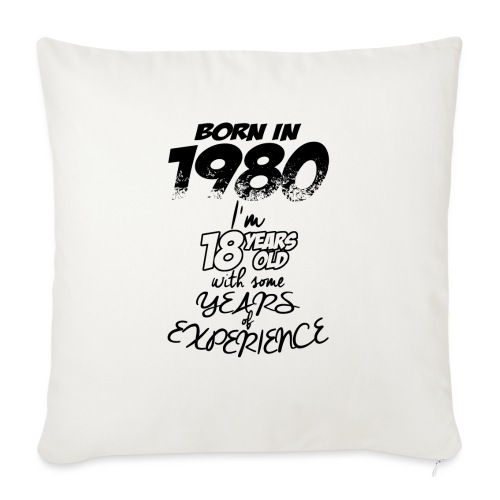 born In1980 - Sofa pillow with filling 45cm x 45cm