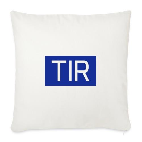 TIR, valkoinen teksti - Sohvatyynyt täytteellä 44 x 44 cm
