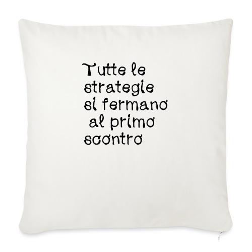 Maglietta con frase divertente - Cuscino da divano 44 x 44 cm con riempimento