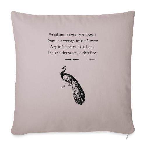 Le Paon d'Apollinaire - Coussin et housse de 45 x 45 cm