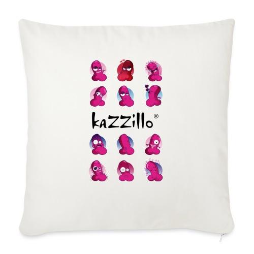 kazzillo emoticon e logo - Cuscino da divano 44 x 44 cm con riempimento