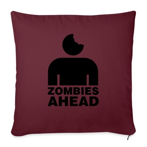 Zombies Ahead - Soffkudde med stoppning 44 x 44 cm