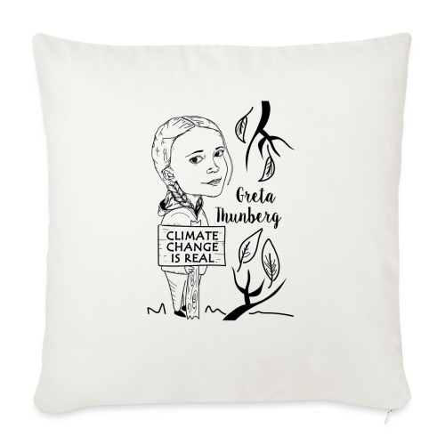 climate change is real - Sofa pillow with filling 45cm x 45cm