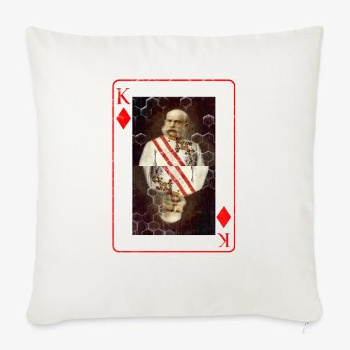 Kaiser Franz von Österreich spielkarte - Sofakissen mit Füllung 44 x 44 cm