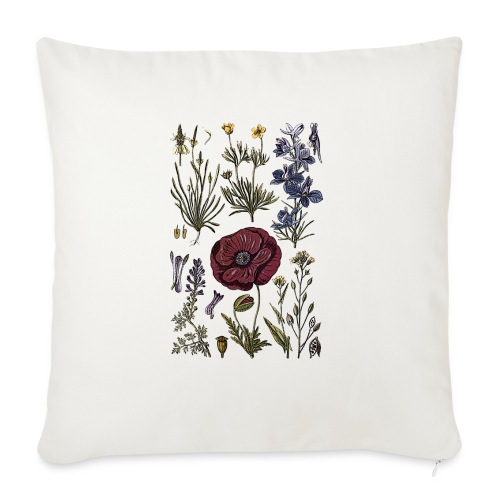 Wild flowers - Sofa pillow with filling 45cm x 45cm