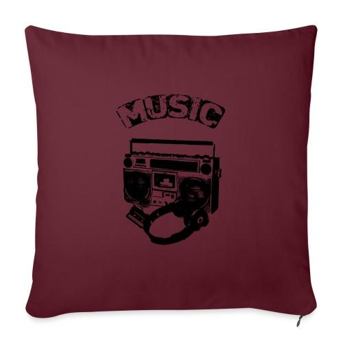 musik1 - Sofapude med fyld 44 x 44 cm