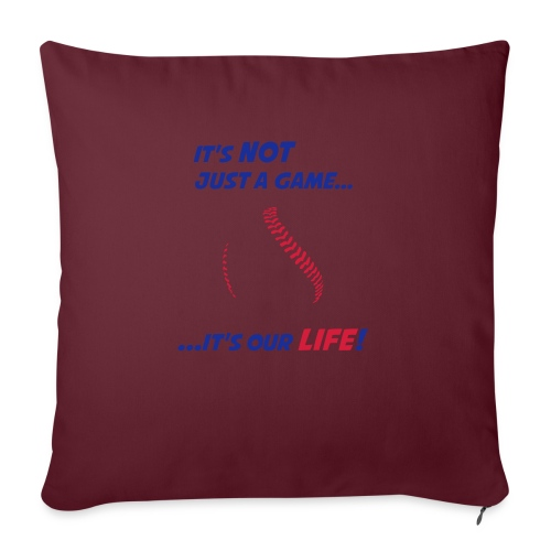 Baseball is our life - Sofa pillow with filling 45cm x 45cm