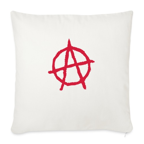 Anarchy Symbol - Sofa pillow with filling 45cm x 45cm