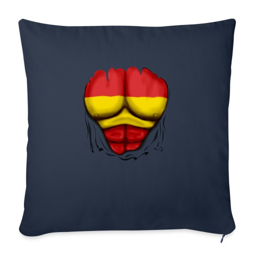 España Flag Ripped Muscles six pack chest t-shirt - Sofa pillow with filling 45cm x 45cm