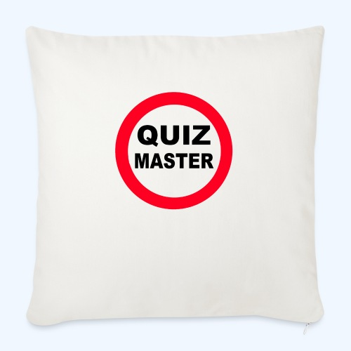 Quiz Master Stop Sign - Sofa pillow with filling 45cm x 45cm
