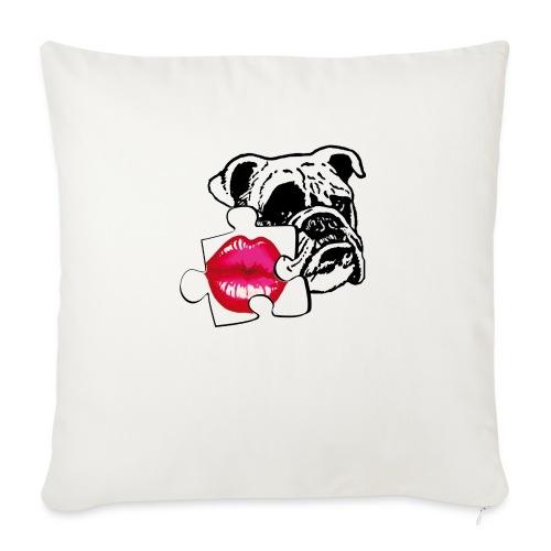 BULLDOG - KISS - Cuscino da divano 44 x 44 cm con riempimento