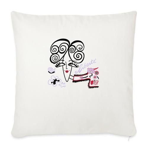 Libertà - Cuscino da divano 44 x 44 cm con riempimento