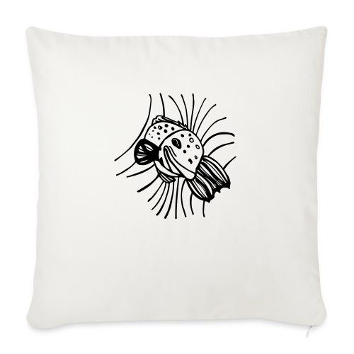 pesce1 - Cuscino da divano 44 x 44 cm con riempimento