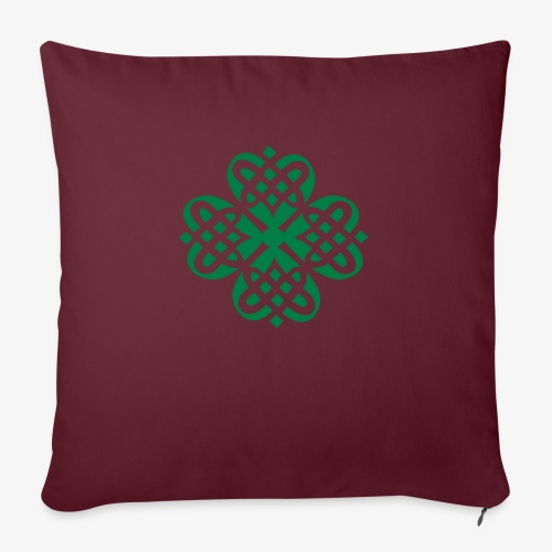Shamrock Celtic knot decoration patjila - Sofa pillow with filling 45cm x 45cm