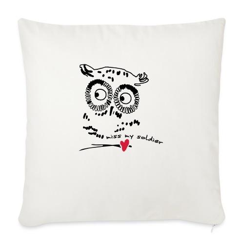 Owl Miss my soldier Vektor - Sofakissen mit Füllung 44 x 44 cm