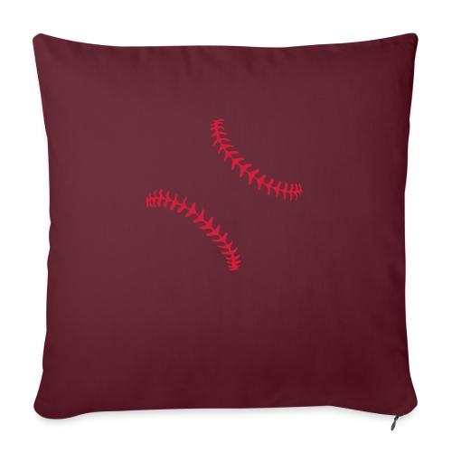 Realistic Baseball Seams - Sofa pillow with filling 45cm x 45cm