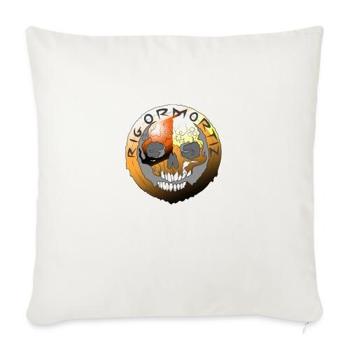 Rigormortiz Metallic Orange Design - Sofa pillow with filling 45cm x 45cm