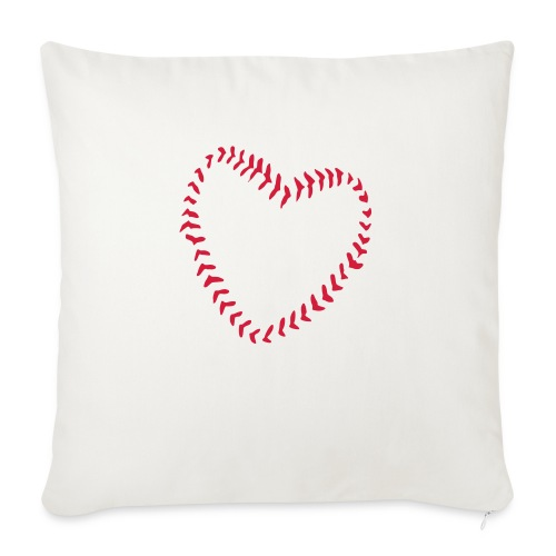 2581172 1029128891 Baseball Heart Of Seams - Sofa pillow with filling 45cm x 45cm