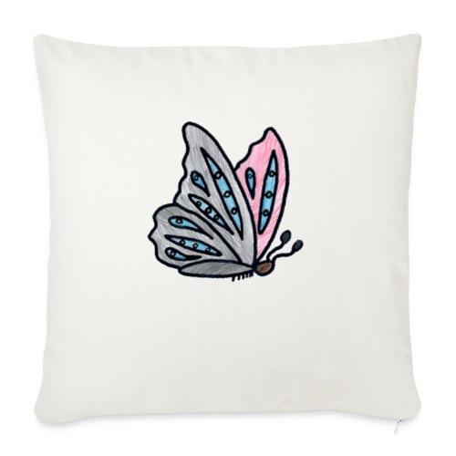 Fjäril - Soffkudde med stoppning 44 x 44 cm