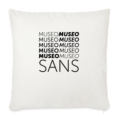 museo sans - Sofa pillow with filling 45cm x 45cm