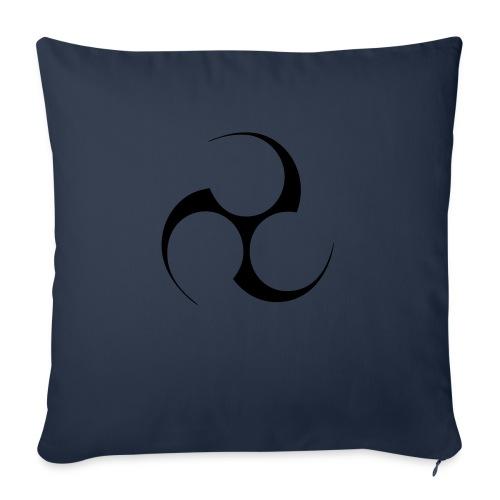 Mitsudomoe Symbol (invertiert) - Sofakissen mit Füllung 44 x 44 cm