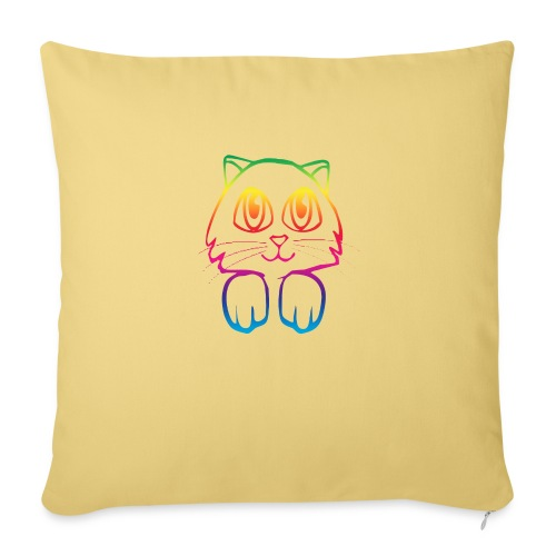 rainbow_pussy - Sofa pillow with filling 45cm x 45cm