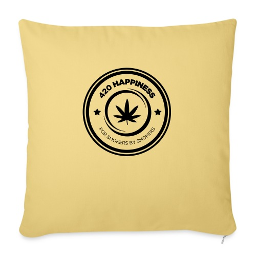 420_Happiness_logo - Sofapude med fyld 44 x 44 cm