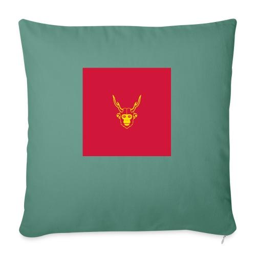 scimmiacervo sfondo rosso - Cuscino da divano 44 x 44 cm con riempimento