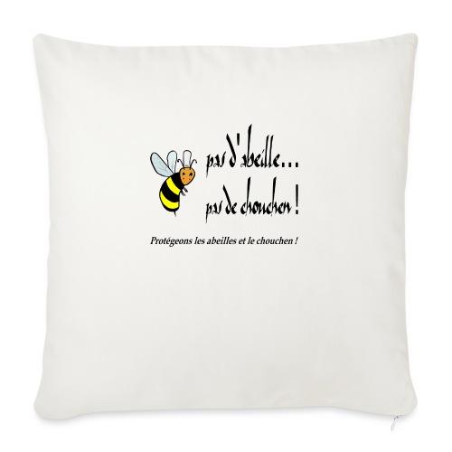 Pas d'abeille, pas de chouchen - Coussin et housse de 45 x 45 cm