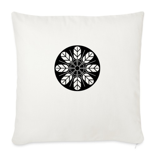 Inoue clan kamon in black - Sofa pillow with filling 45cm x 45cm