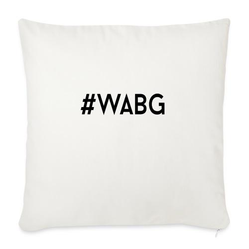 WABG ZWART png - Bankkussen met vulling 44 x 44 cm