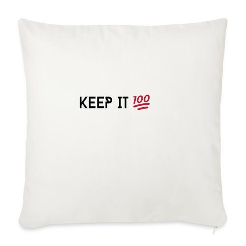 KEEP IT 100 ZWART png - Bankkussen met vulling 44 x 44 cm