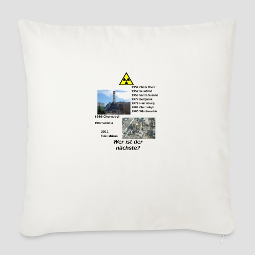 no nuclear button (German) Wer ist der Nächste? - Sofa pillow with filling 45cm x 45cm