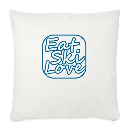 eat ski love - Bankkussen met vulling 44 x 44 cm