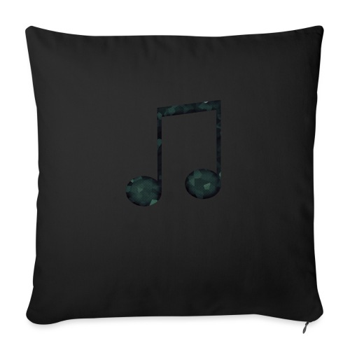Low Poly Geometric Music Note - Sofa pillow with filling 45cm x 45cm