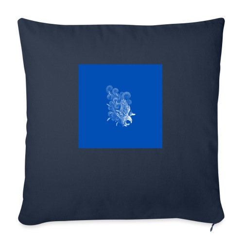 Windy Wings Blue - Sofa pillow with filling 45cm x 45cm