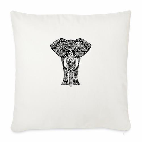 Ażurowy słoń - Poduszka na kanapę z wkładem 44 x 44 cm