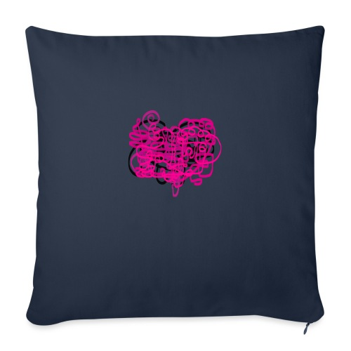 delicious pink - Sofa pillow with filling 45cm x 45cm