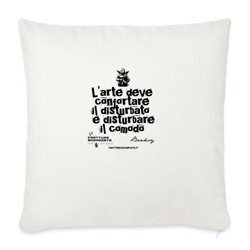 Aforisma Banksy - Cuscino da divano 44 x 44 cm con riempimento